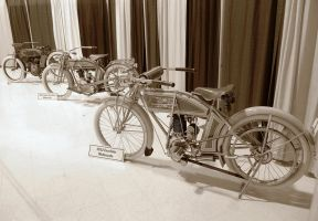 1912 Excelsior and 1914 Harley by Partywave