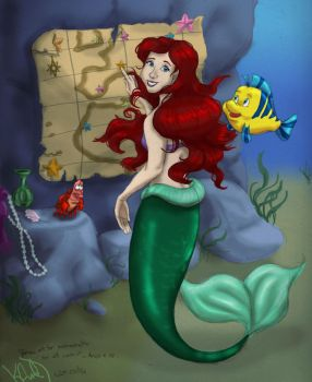 prize art for Ever-everafter: Ariel and Co. by Lantis-Erin