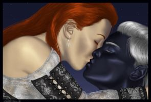 The Kiss by M-Everham