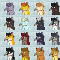 New Year gifts wolves etc - 2 by Sidgi