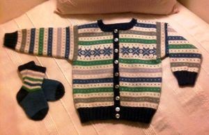 Blue Jacket for Boy Toddler by ToveAnita