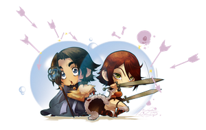 :Commission: Chibi Martin and Tyra by Miladymorigane