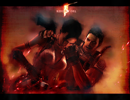 RE5 - Chris and Sheva by RedDevil00