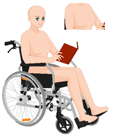 Wheelchair Bound Young Lady Base by SelenaEde