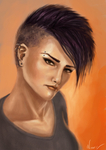 Somewhat of a Salander by Zackira