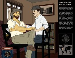 Walt Whitman + Peter Doyle by MeteoDesigns