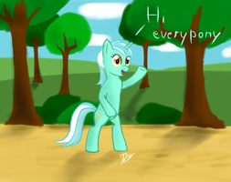 Lyra's .... walk? by monteruis