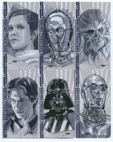 Star Wars Heads Sketch cards by SteveStanleyArt