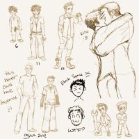 Wes and Cid Sketch Page by evafortuna