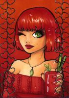 ACEO 86:'DRINK ME'- Tomato Juice by Forunth