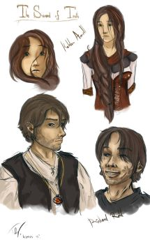 Richard and Kahlan sketches by Keizanes