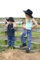 Cowboy and Girl 1 by Paigesmum-stock