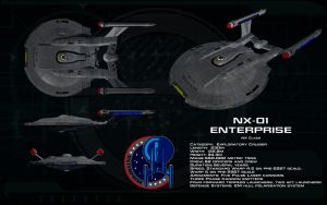 NX class ortho - NX-01 Enterprise by unusualsuspex