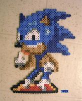 Sonic the hedgehog  Sprite (middle finger) by swax8bit