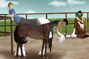 Commission: Farrier Visit by NorseChaos