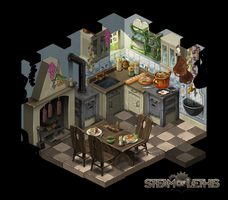 Kitchen by Steam-of-Lethis