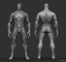 Male Anatomy Study by YBourykina