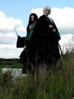 Lucius and Bellatrix past era by Lucilla665