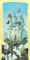 Floating castle by Holly-Toadstool