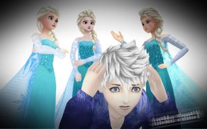 MMD's Elsa EVERYWHERE!!! by Jakkaeront
