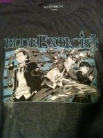 blue exorcist shirt by z-o-k-i