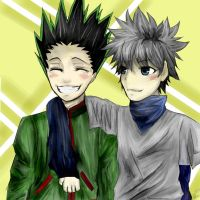 Gon and Killua by aleeeshr