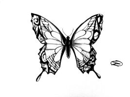 Butterfly tattoo design by odrozz