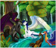 Collab: A Woodland Romance by seasaidh