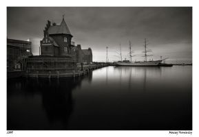Port in Stralsund by Maciej-Koniuszy