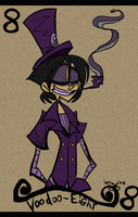 Voodoo 8 Card by Freakly-Show