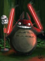 Sith Totoro by MeganeRid