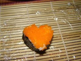 Heart Sushi by stephuhnoids