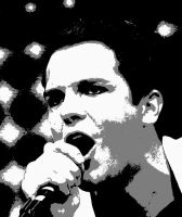 Brandon Flowers in B+W by divinekatt