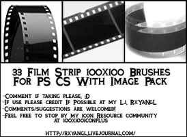33 Film Strip 100x100 Brushes by princess-RxY