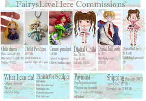 Commissions open Only 5 slots available! by FairysLiveHere