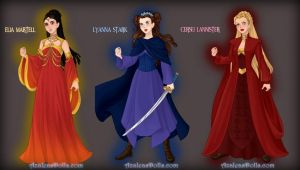ASOIF Elia, Lyanna and Cersei by LadyRaw90