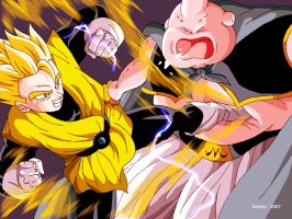 Gohan and Buu Dragon Ball Z by Sersiso