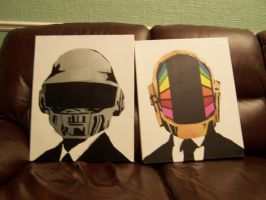 Daft Punk x2 (WIP?) by Zombie-Pacman