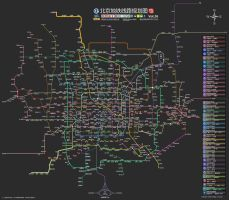 Beijng Subway Map in Future 2 by xxmlbbmm