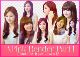 APink Render Part I by Know-chan