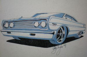 1967 Plymouth GTX by dieselart