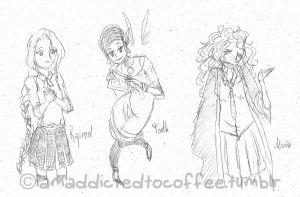 Rapunzel, Tooth, Merida by Moony-14-Lucky