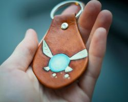 Legend of Zelda Keychain /Key Fob - Navi the Fairy by kiyone