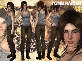 Lara Croft 360( W.I.P) by konradM96