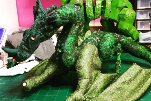 Rhaegal poseable wearable art doll by DragonForge311088