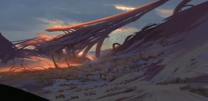 16/365 Alien landscape by snatti89