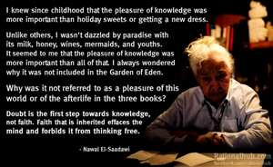 Nawal Al Saadawi on knowledge and doubt.. by rationalhub