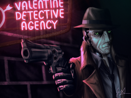 Nick Valentine - Fallout 4 by CaptainBombastic