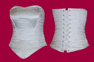Beaded Silk Wedding corset by Janes-Wardrobe