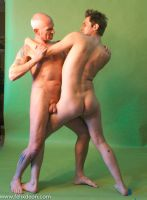 Nude Fighting Men 4 by TheMaleNudeStock